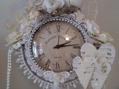 Altered shabby chic clock   Wild Orchid Crafts DT project