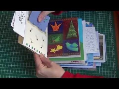Art journal made from christmas and greeting cards