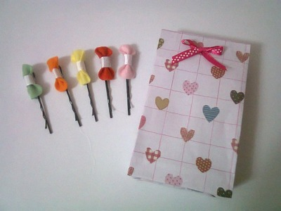 DIY : #10 Cute Bobby Pins With Bow ♥