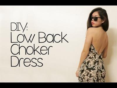 DIY: Low Back Choker Dress