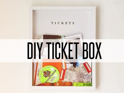 DIY TICKET BOX