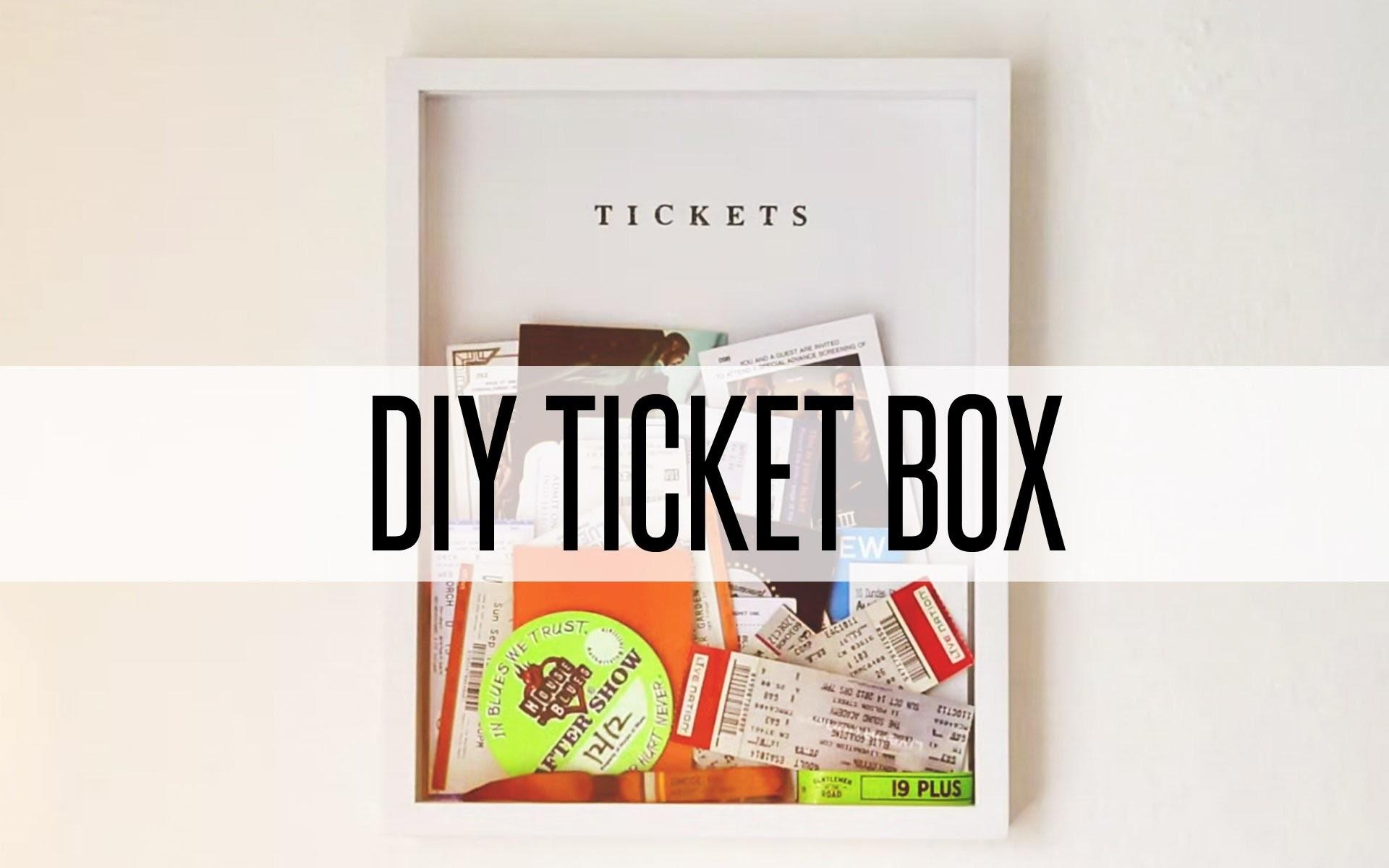 DIY TICKET BOX