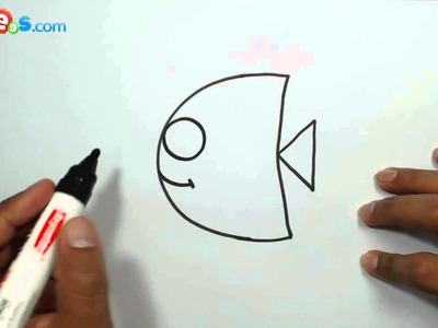 How to Draw a Cute Fish from Alphabet C