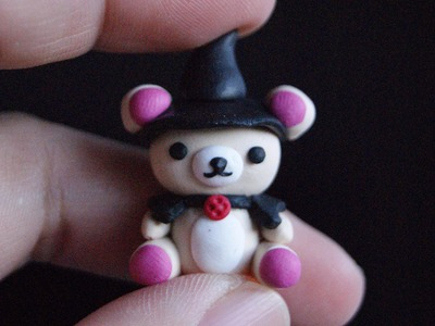 Korilakkuma Witch: Polymer Clay (HALLOWEEN)