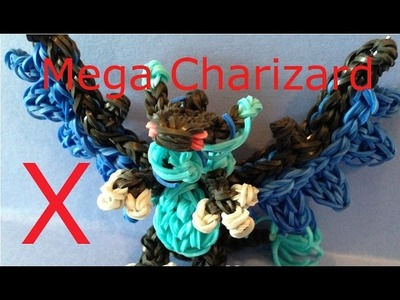 Mega Charixard X Pokemon - Rainbow Loom Charms