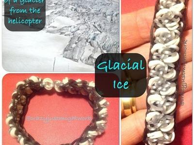 "New ""Glacial Ice"" Rainbow Loom Bracelet.How To Tutorial"