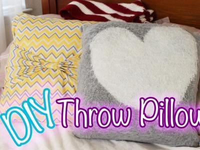 No Sew DIY Throw Pillows! | itskathx3