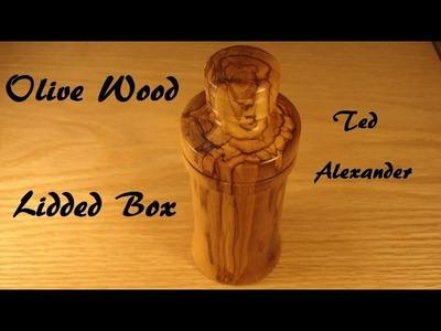 Olive Wood Lidded Box