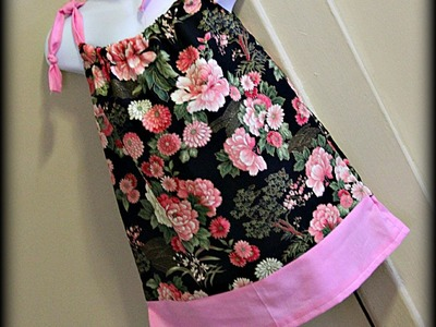 Pillowcase Dress (Using One Pattern To Create Another)
