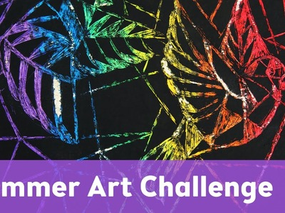 Summer Art Challenge 1 | Rainbow, Geometric, Something in the Sky
