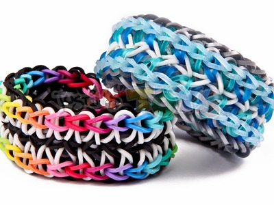 Symphony Rainbow Loom Bracelet - Needs 3 Looms - Advanced Reversible Design