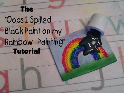 "The ""Oops I Spilled Black Paint on My Rainbow Painting"" Polymer Clay Tutorial"