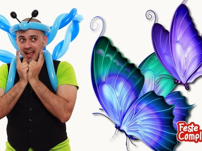 Balloon Butterfly Crown Costume - Palloncino modellabile Farfalla - Tutorial 95 - Feste Compleanni