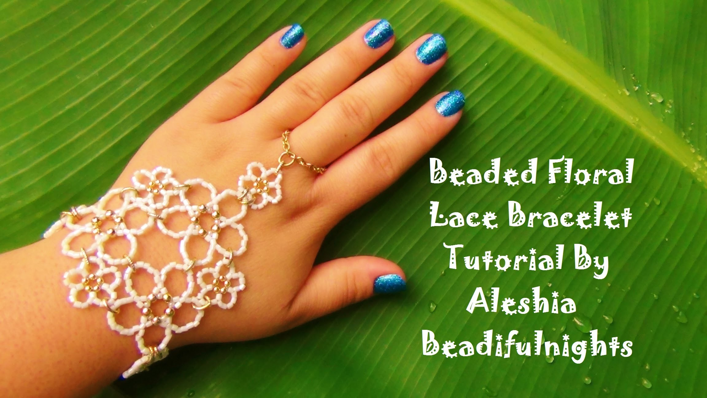 Beaded Floral Lace Bracelet Tutorial