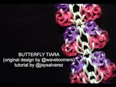 BUTTERFLY TIARA loom tutorial by @jaysalvarez for ILOVEHUESHOP