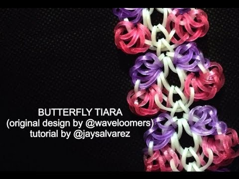 BUTTERFLY TIARA loom tutorial by @jaysalvarez for ILOVEHUESHOP