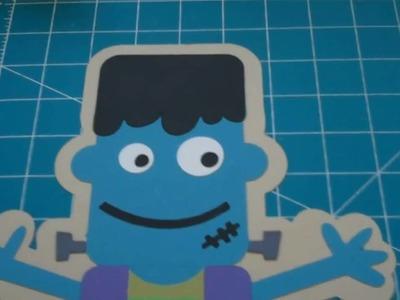 Cricut Mini Monsters Halloween banner.garland Frankenstein p