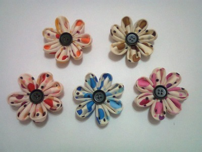 DIY : #17 Cute Fabric Flowers ♥