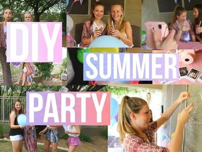 DIY Backyard Summer Party!