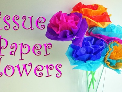 DIY crafts: How to make tissue paper flowers EASY! Ana | DIY Crafts.