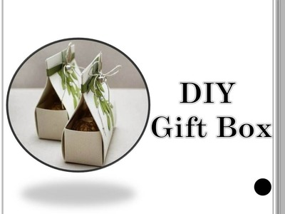 DIY cute gift boxes