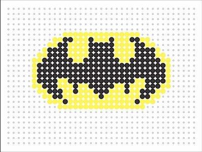 Hama Bead Batman Logo (Logo Series #5)