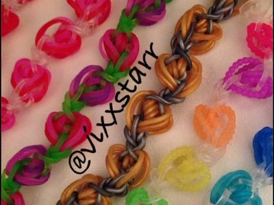 """Heart Drops"" Valentine Bracelet hook only Tutorial (Rainbow Loom)"