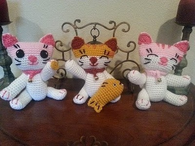 Helenmay Crochet Fusako's Crochet Lucky Cat DIY tutorial