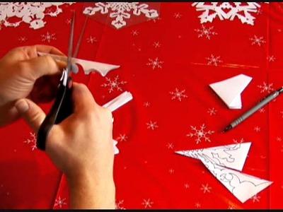 How I Make Paper Snowflakes