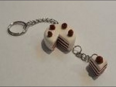 How to create a polymer clay cake keychain