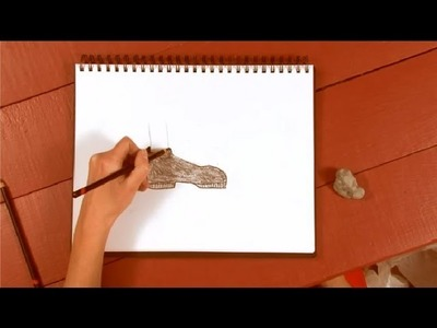 How to Draw Shoes With Charcoal Pencils : How to Draw With Charcoal