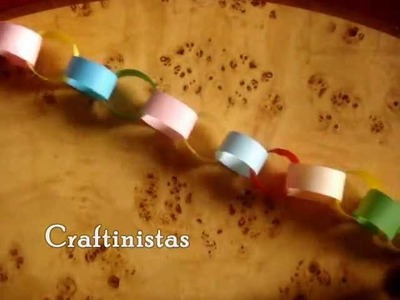 How To Make A Colorful Paper Chain