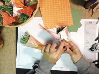 How to Make Easy Paper Cones for Easter Paper Carrots