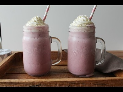 How To Make Strawberry Milkshake - By One Kitchen Episode 109