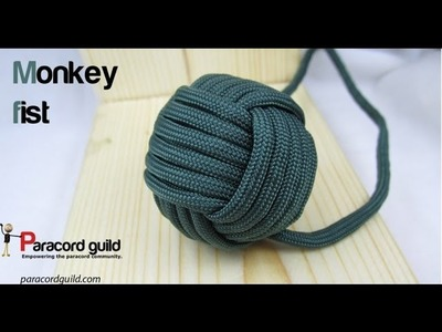 How to tie a paracord monkey fist