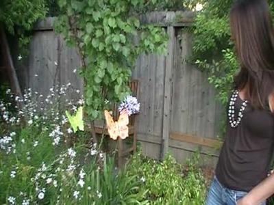 JJ Potts Ceramic Butterfly Outdoor Decor Garden Art Sculpture
