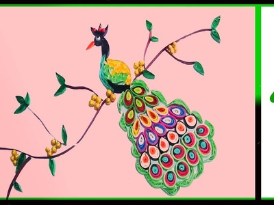 Paper quilling -made easy beautiful peacock