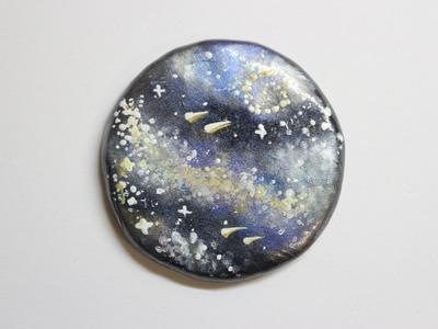 Polymer Clay Galaxy Mirror