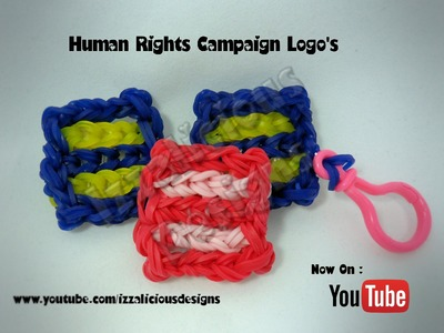 Rainbow Loom Human Rights Campaign Logo Charm