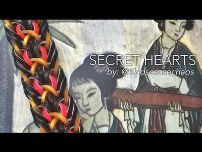 SECRET HEARTS Hook Only bracelet tutorial