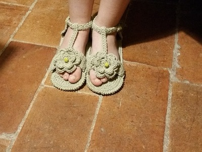 Tutorial sandali all'uncinetto - parte I di II -  crochet sandals - sandalias crochet