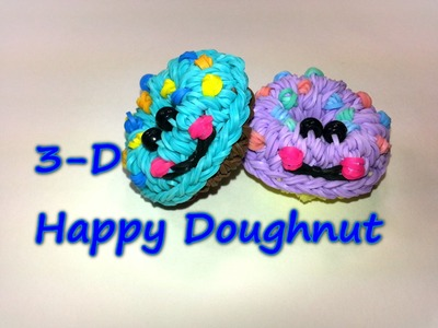 3-D Happy Doughnut Tutorial by feelinspiffy (Rainbow Loom)