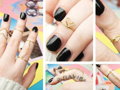 DIY Midi Rings - 5 Designs! | by tashaleelyn