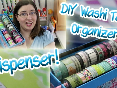 DIY Washi Tape Dispenser and Organizer! Two Methods!