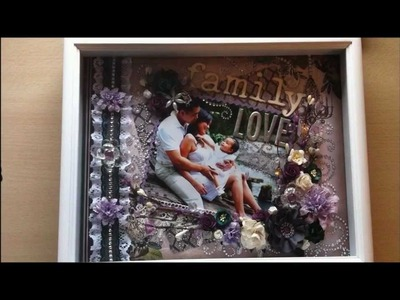 Family Love: Shadow Box Layout