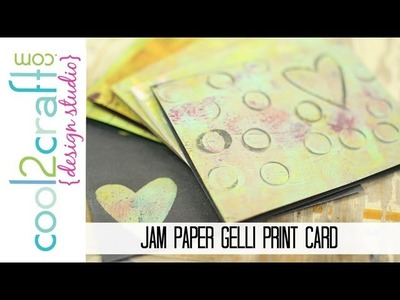 How to Create a Monoprint Card with Gelli Arts Printing Plate