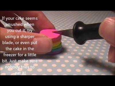 How to make a polymer clay rainbow cake!