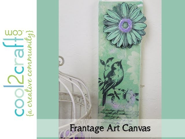 How to Make a Stamped Bird & Flower Art Canvas by Tiffany Windsor