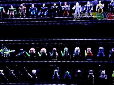 LED LEGO minifigure Custom Lighted Display Case