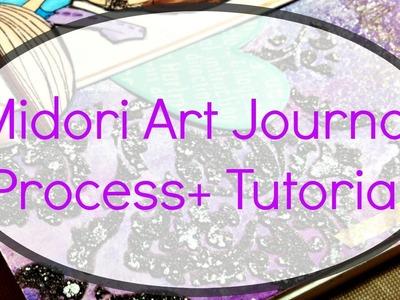Midori Mixed Media Art Journal Process + Tutorial